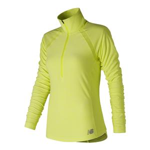 Women`s Anticipate Half Zip Tennis Top Solar Yellow