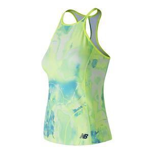 Women`s Printed Rally Court Tennis Tank Solar Yellow