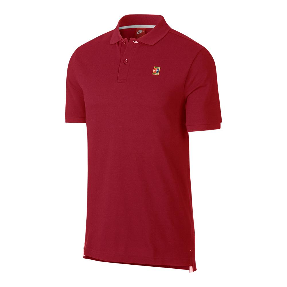 Men's Court Heritage Tennis Polo Gym Red