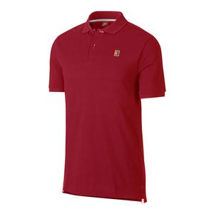 Men`s Court Heritage Tennis Polo Gym Red