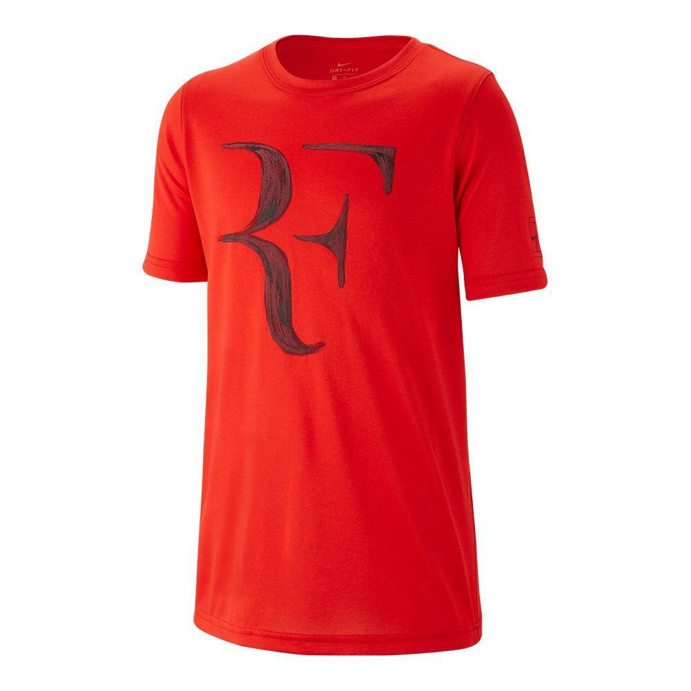 Boys ` Court Dry Legend Roger Federer Tennis Tee