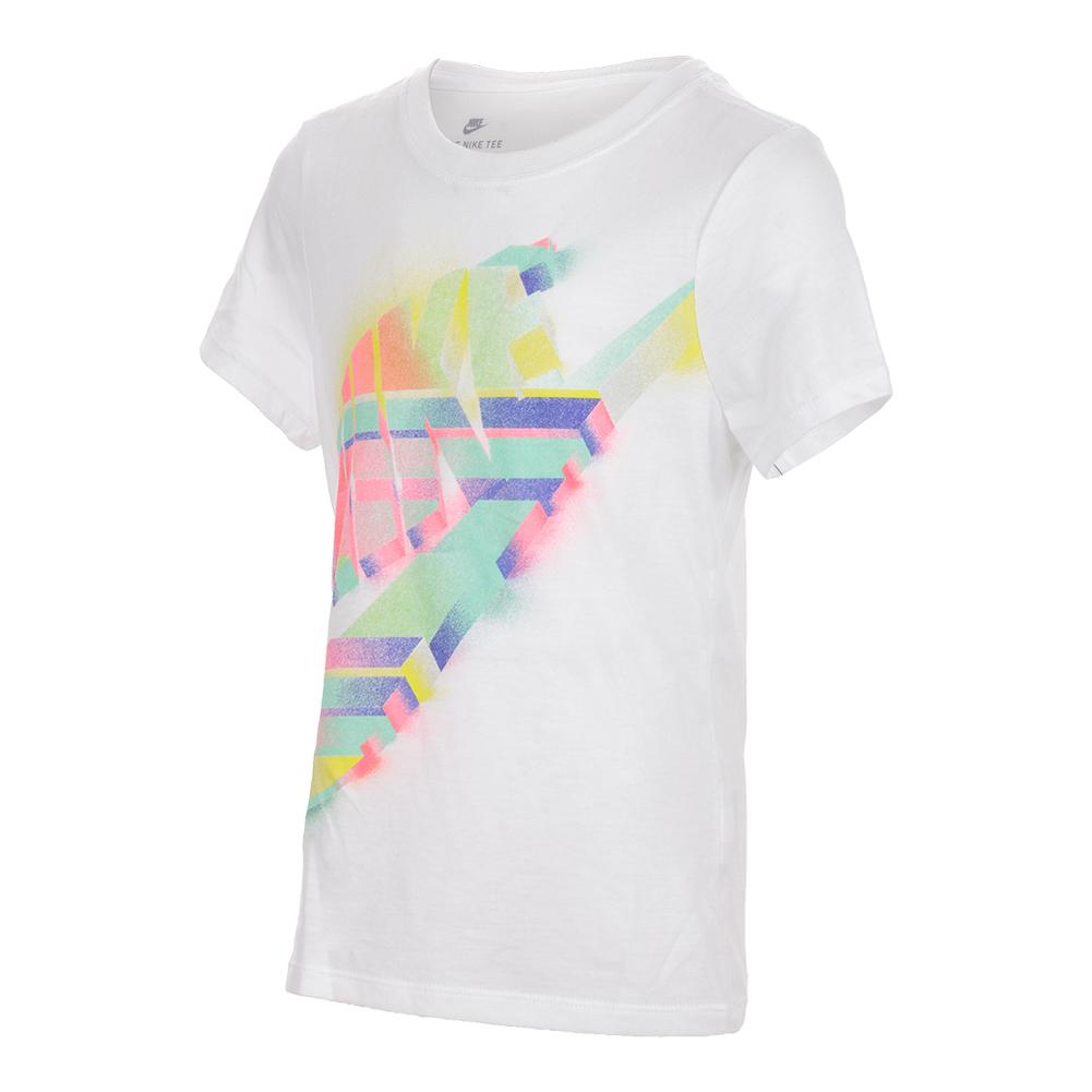 aafb3b01 Girls` Painted Futura Tee 100_WHITE
