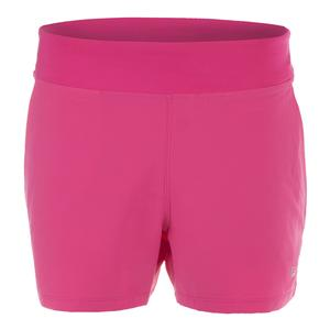 Women`s Double Layer Tennis Short Raspberry Rose