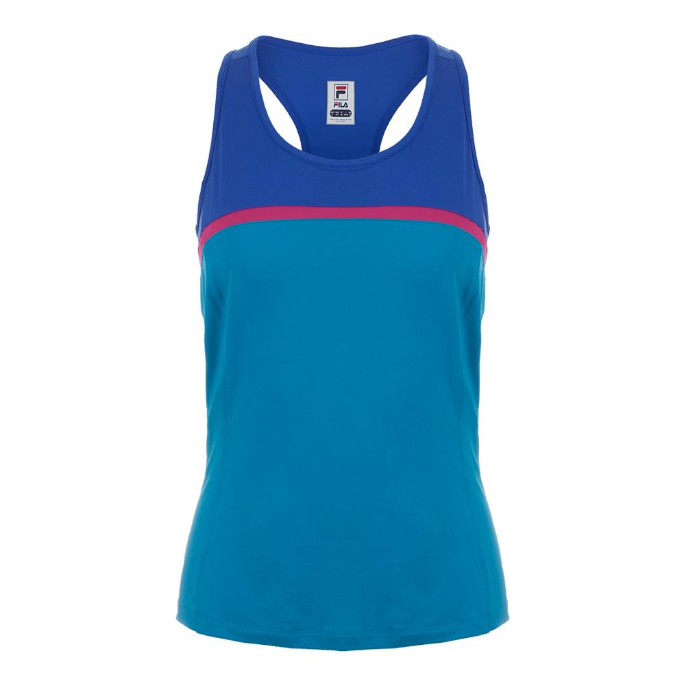 Women's Sweetspot Colorblocked Tennis Tank Blue Atoll And Amparo Blue