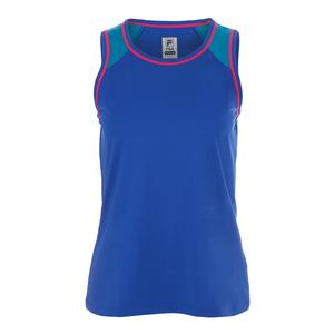 Women`s Sweetspot Full Coverage Tennis Tank Amparo Blue and Blue Atoll