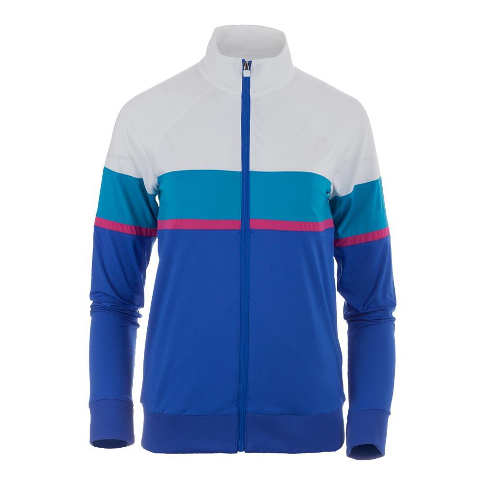 Women's Sweetspot Tennis Jacket Amparo Blue And White