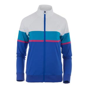 Women`s Sweetspot Tennis Jacket Amparo Blue and White