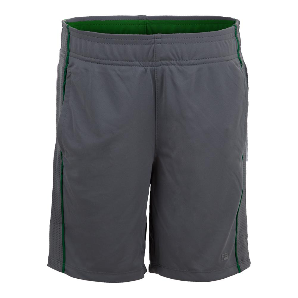 Boys ` Piped Tennis Short Monument And Jolly Green