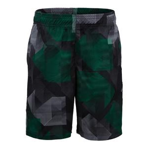 Boys` On the Line Printed Tennis Short Jolly Green Geo