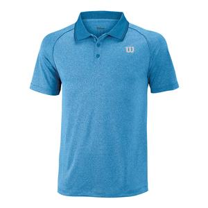 Men`s Core Tennis Polo Mazarine Blue and Neon Red