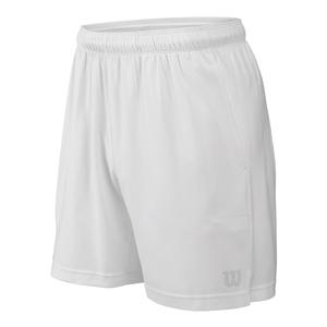 Men`s Rush 7 Inch Woven Tennis Short White