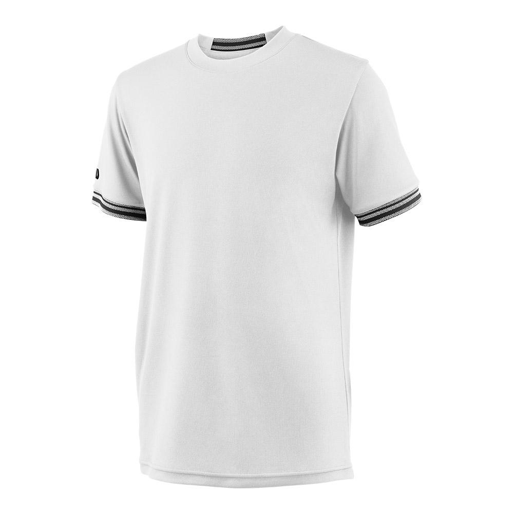 Boys ` Team Solid Tennis Crew White