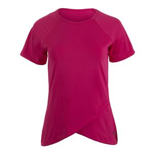 Women`s Spirit Short Sleeve Tennis Top Pink