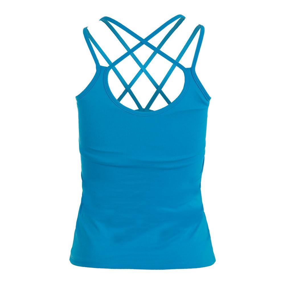 Women's Sleek Tennis Tank Turquoise