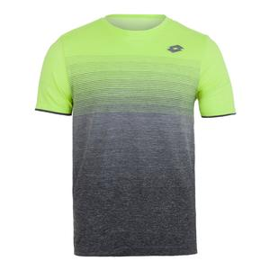 Men`s Court II Tennis Tee Yellow Neon and Mel Black