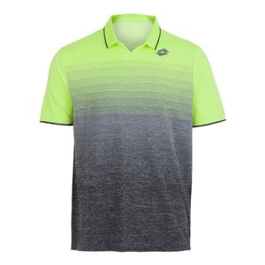 Men`s Court II Tennis Polo Yellow Neon and Mel Black