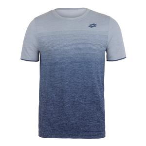 Men`s Court II Tennis Tee Pearl and Mel Blue College