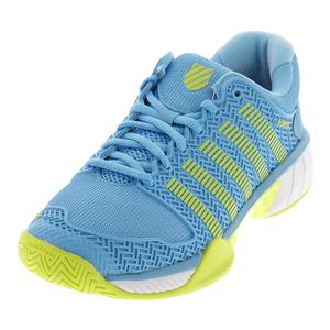 Women`s Hypercourt Express Tennis Shoes Aquarius and White