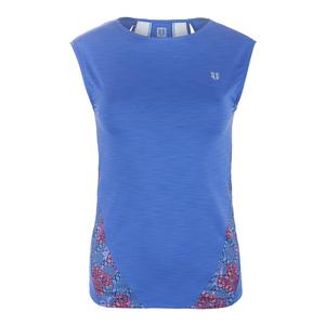 Women`s Backup Cap Sleeve Tennis Top Baja Blue