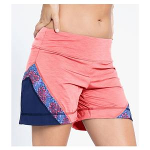 Women`s Angle Tennis Short Coral