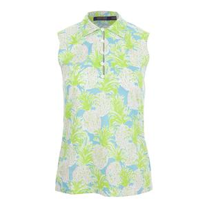 Women`s Pineapple Sleeveless Tennis Top Print