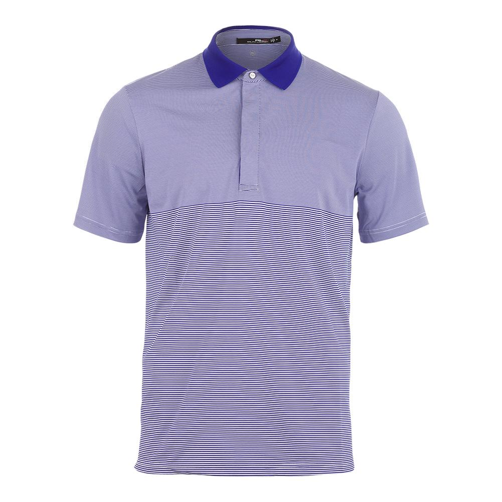 Men's Lightweight Stripe Airflow Tennis Top Pure White And City Royal