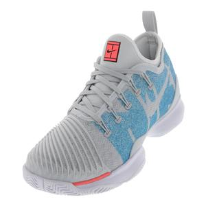 Women`s Air Zoom Ultra React Tennis Shoes Pure Platinum and Blue Nebula