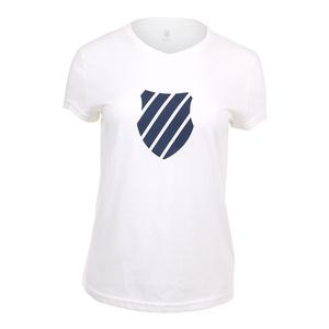 Women`s Logo Tennis Tee White