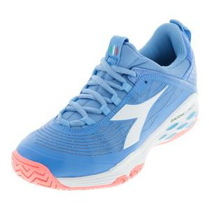 Women`s Speed Blushield Fly Ag Tennis Shoes Iris Blue and White