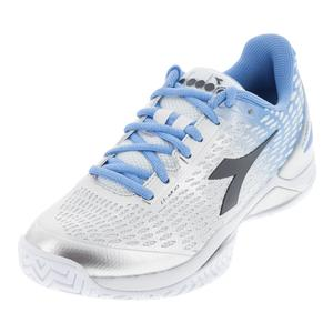 Women`s Speed Blushield 2 Ag Tennis Shoes Silver and Fiordaliso