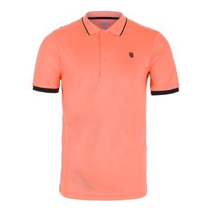 Men`s Performance Tennis Polo 2 Neon Blaze and Phantom
