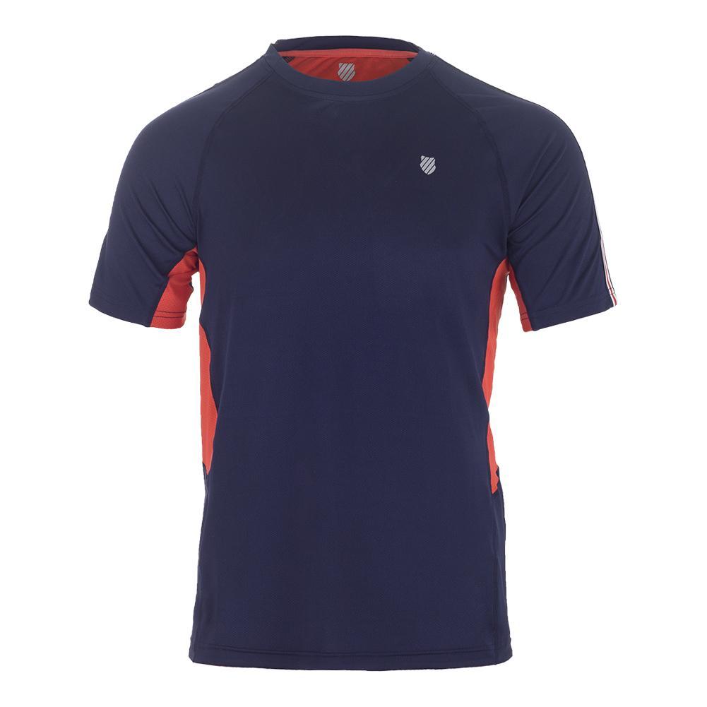 Men's Heritage Short Sleeve Tennis Tee Navy