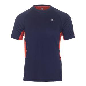 Men`s Heritage Short Sleeve Tennis Tee Navy
