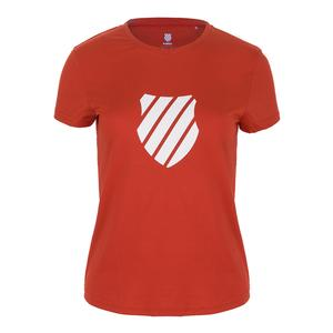 Women`s Logo Tennis Tee Red
