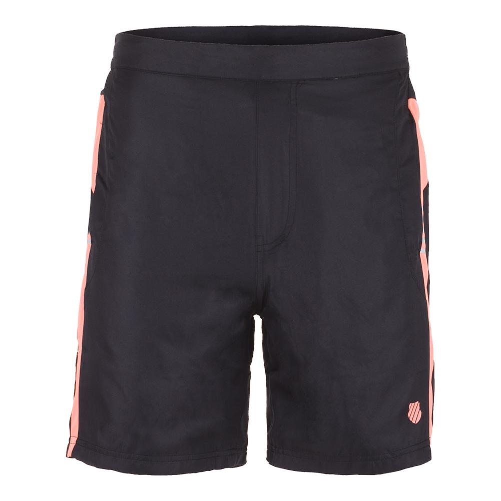 Men's Game 9 Inch Tennis Short 2 Phantom And Neon Blaze