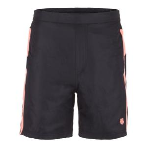 Men`s Game 9 Inch Tennis Short 2 Phantom and Neon Blaze
