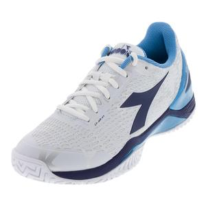 Men`s Speed Blushield 2 Ag Tennis Shoes White and Blue Universe