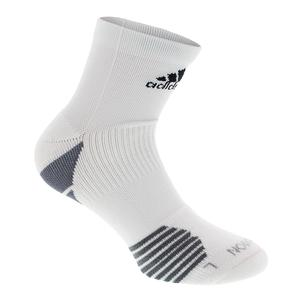 Traxion Menace High Quarter Tennis Socks White and Onix