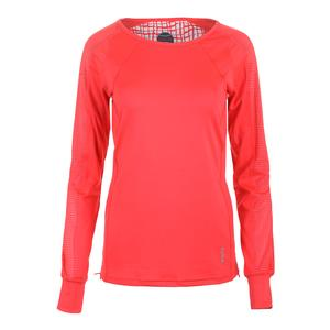 Women`s Positano Long Sleeve Tennis Top Coral
