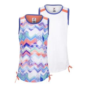 Girls` Chevron Tie Tennis Tank