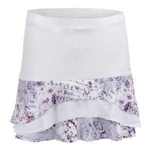 Women`s Tier Tennis Skort White and Rhapsody Print
