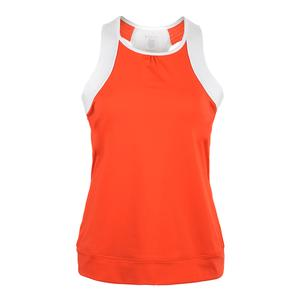 Women`s Eternity Tennis Tank Fiesta and Cloud Dancer