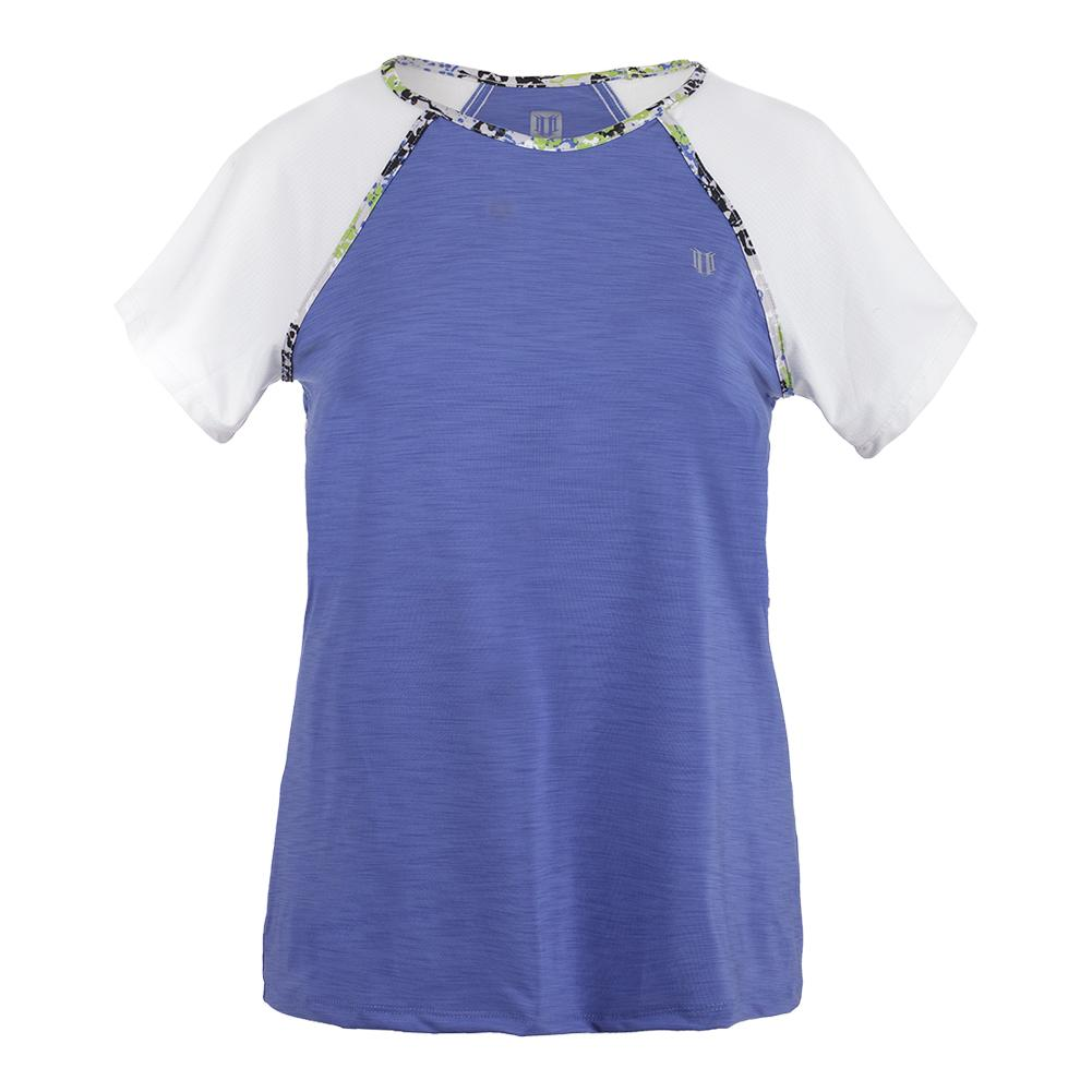 Women's Bleacher Short Sleeve Top Baja Blue