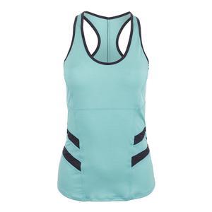 Women`s Command Tennis Tank Sky Blue and Slate Gray