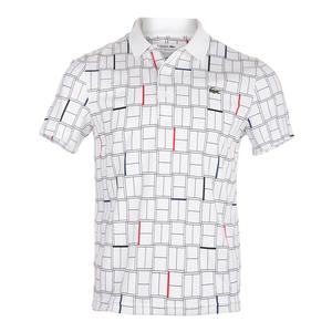 Men`s Edge Collar Tennis Polo White and Black