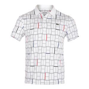 Men`s Edge Collar Tennis Polo White and Black
