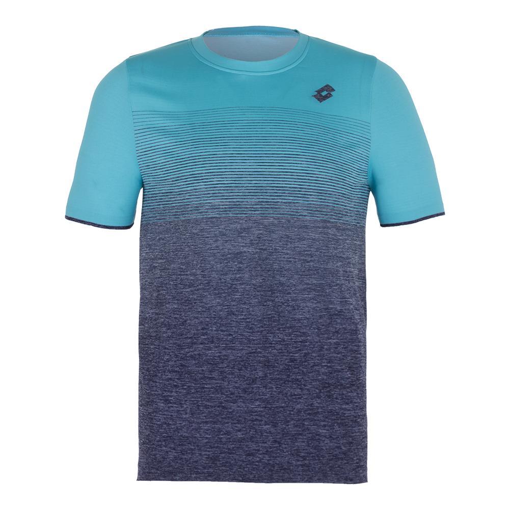 Men's Court Ii Tennis Tee Blue Scuba And Mel Blue College