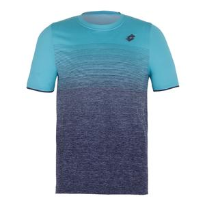 Men`s Court II Tennis Tee Blue Scuba and Mel Blue College