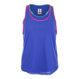 Women`s Sweetspot Layered Tennis Tank Amparo Blue and Blue Atoll