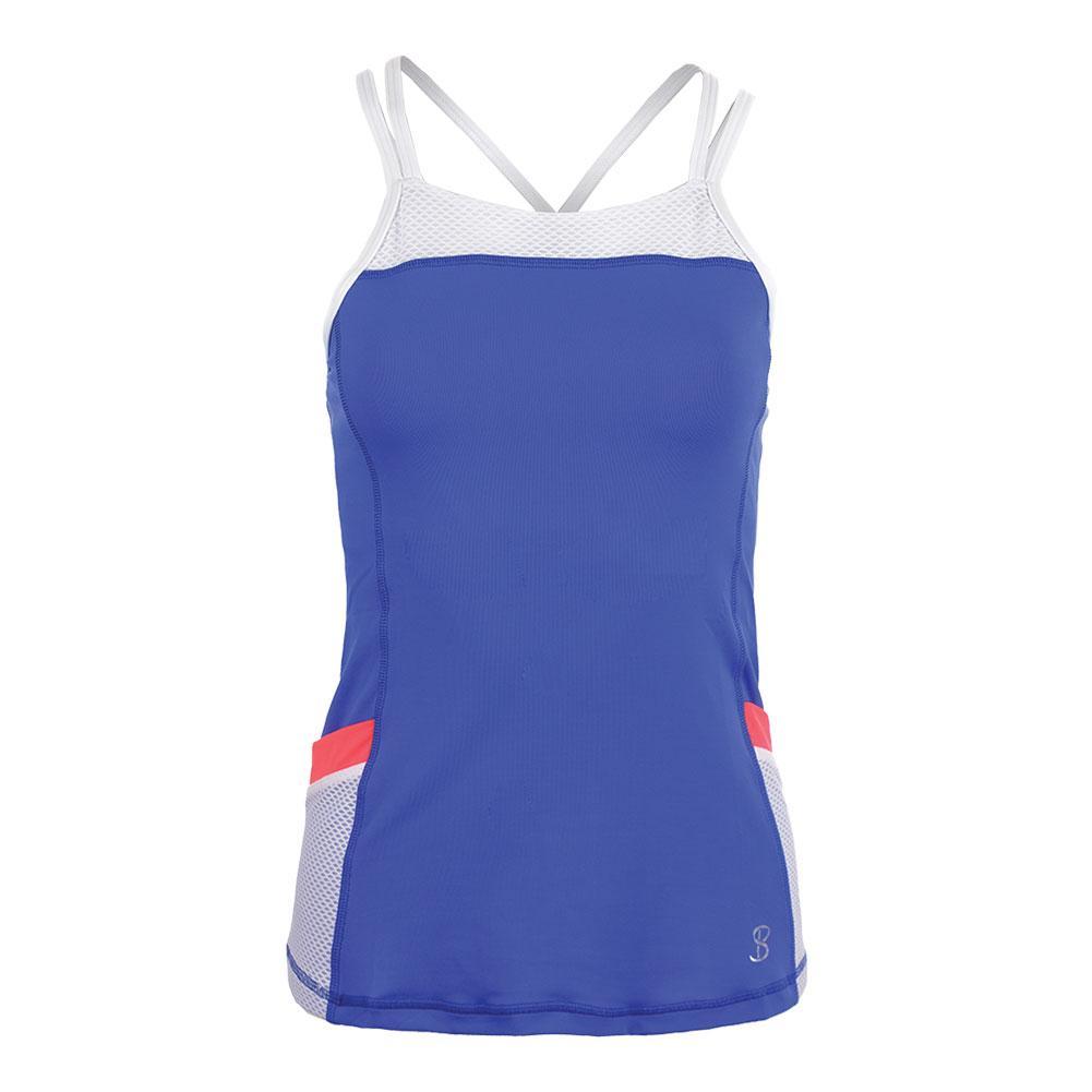 Women's Pocket Tennis Cami Valley Blue